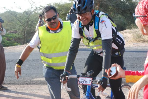 Finish Point with Race Director (Image - Team NAESAR Racing)
